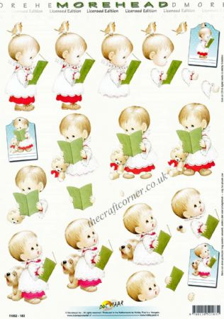 Little Boy Singing In A Choir Morehead 3D Decoupage Craft Sheet